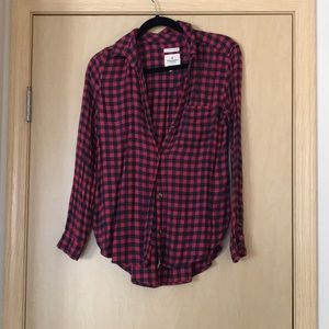 Ahh-mazingly soft Plaid Flannel Button Up Top